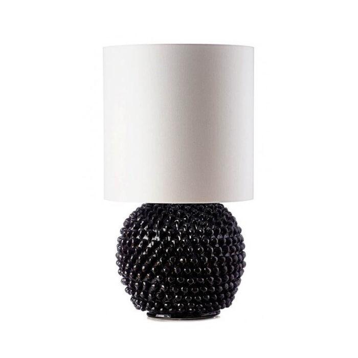 lume-ceramica-caltagirone-nero-lucido-palla